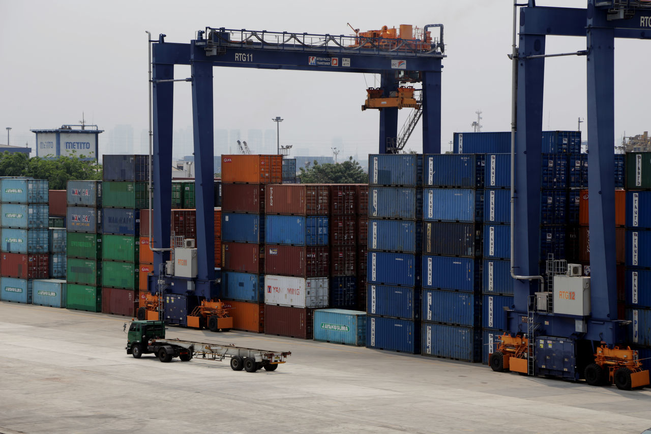 Built Structure Business Business Finance And Industry Cargo Container Commercial Dock Day Distribution Warehouse Economy Freight Transportation Harbor Industry Metal Industry No People Occupation Outdoors Port Shipping  Transportation Warehouse
