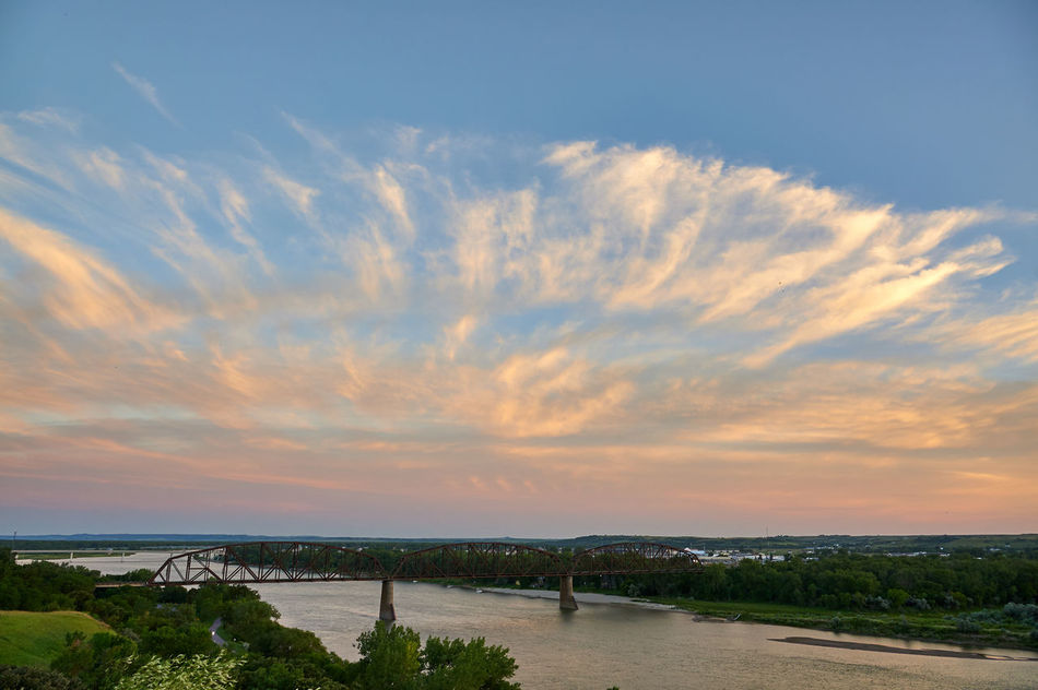 Back Side of the Sunset Bridge Cloud Cloud - Sky No People Outdoors River Sunset Water