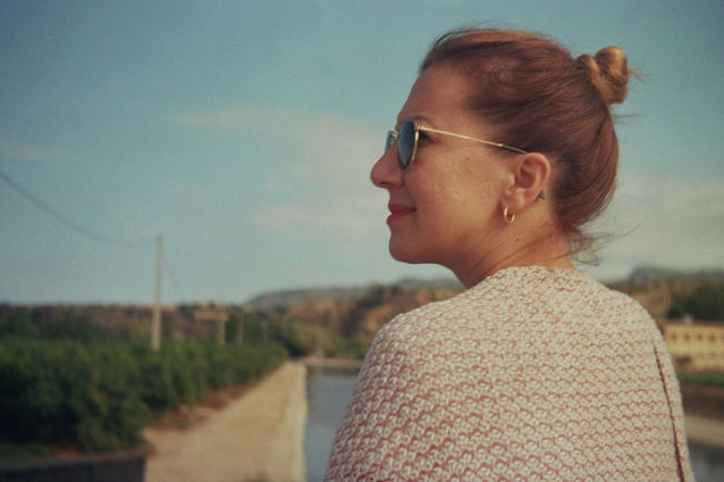 One Woman Only Contemplation Only Women Person One Person Adult Headshot Mature Adult People Horizontal Outdoors Close-up Eyeglasses  Young Adult Day Dreaming Day 35mm Film 35mmfilmphotography Film Agfa Silette I