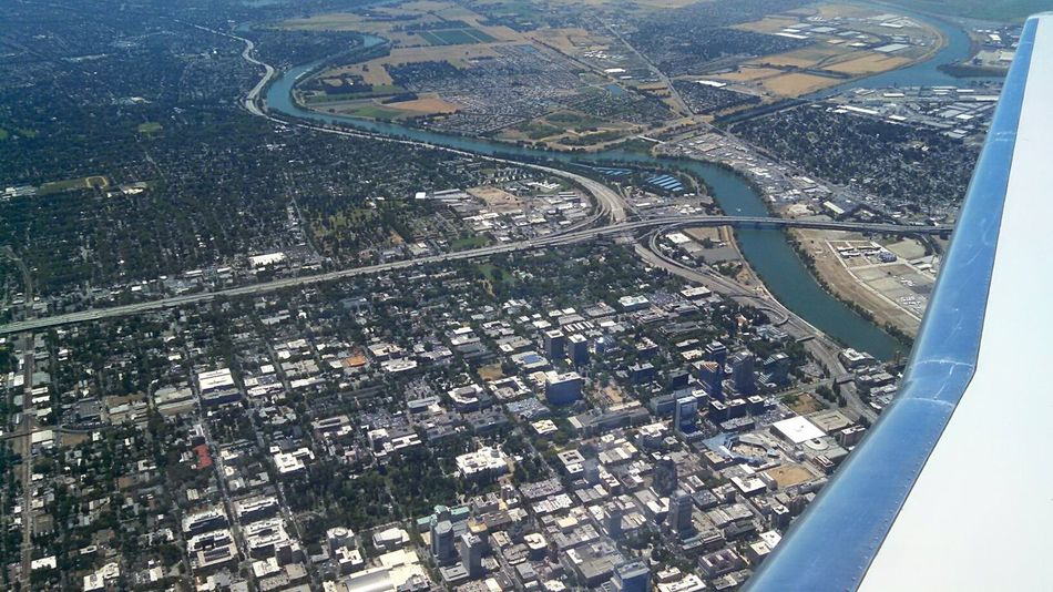 Aerial View Cityscape Landscape Flying Residential District Sacramento California Sacramento River City Journey Smartphonephotography Eye4photography  Eeyem Photography Through My Lens From My Point Of View EyeEm Gallery Mobile Photography Lobuephotos