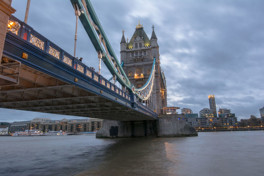 Bridge Dawn Lights London London Bridge Night Tourism Tourism Destination Tourist Attraction  Tower Bridge  Uk Waterfront