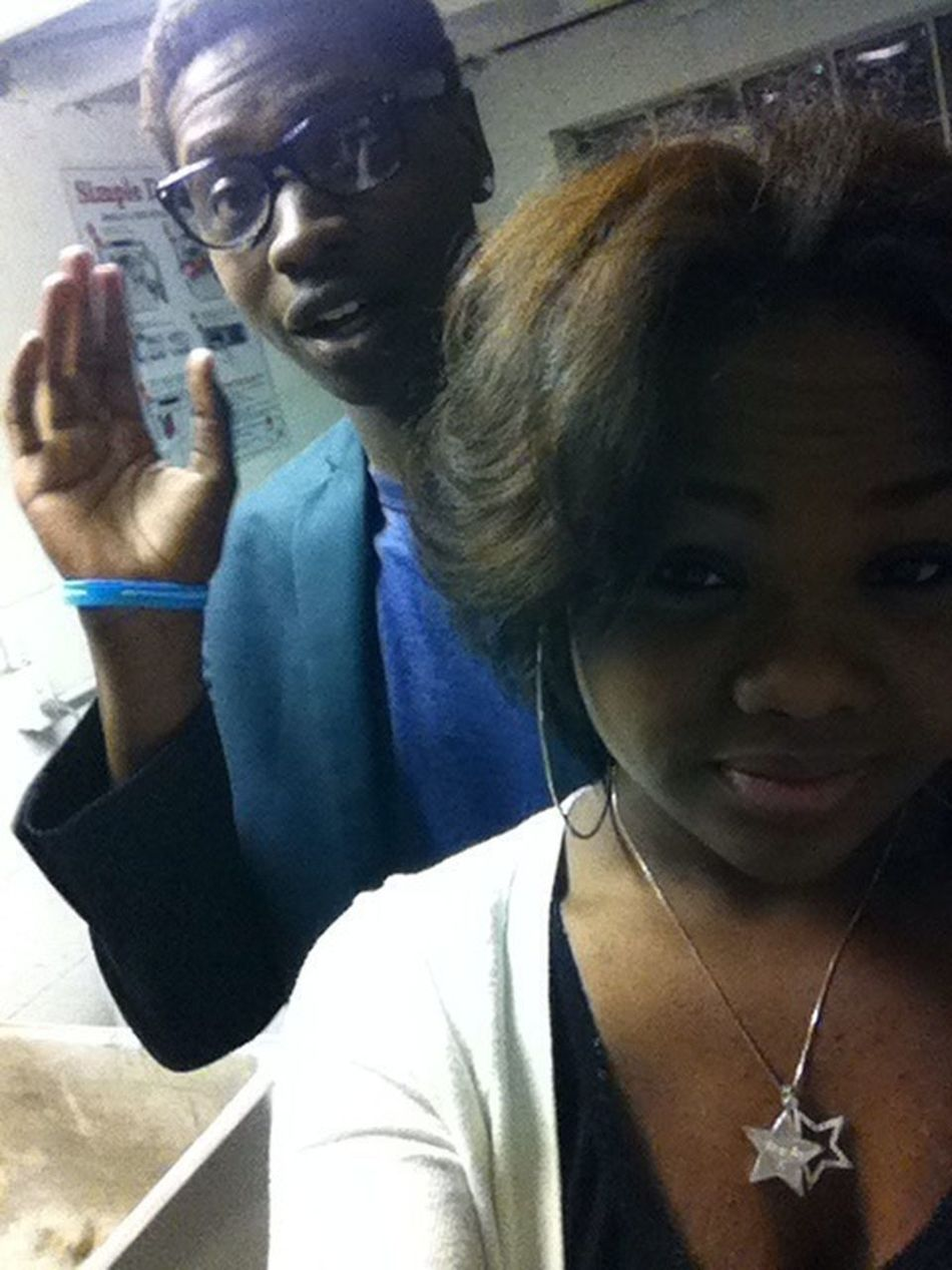 Me & Luc lastnight chilling with the gang.!