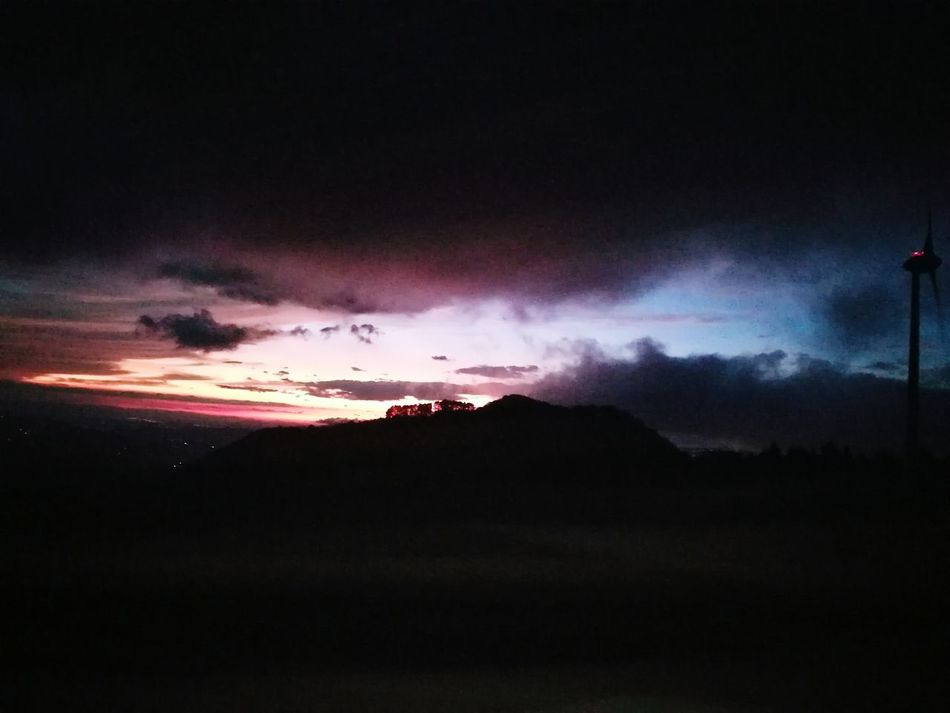 Dramatic Sky Beauty In Nature Power In Nature Lightning Sky Mountain Outdoors Sunset Nature Night No People Beauty Eolic Towers Costa Rica Colors Of Nature Captured Moment