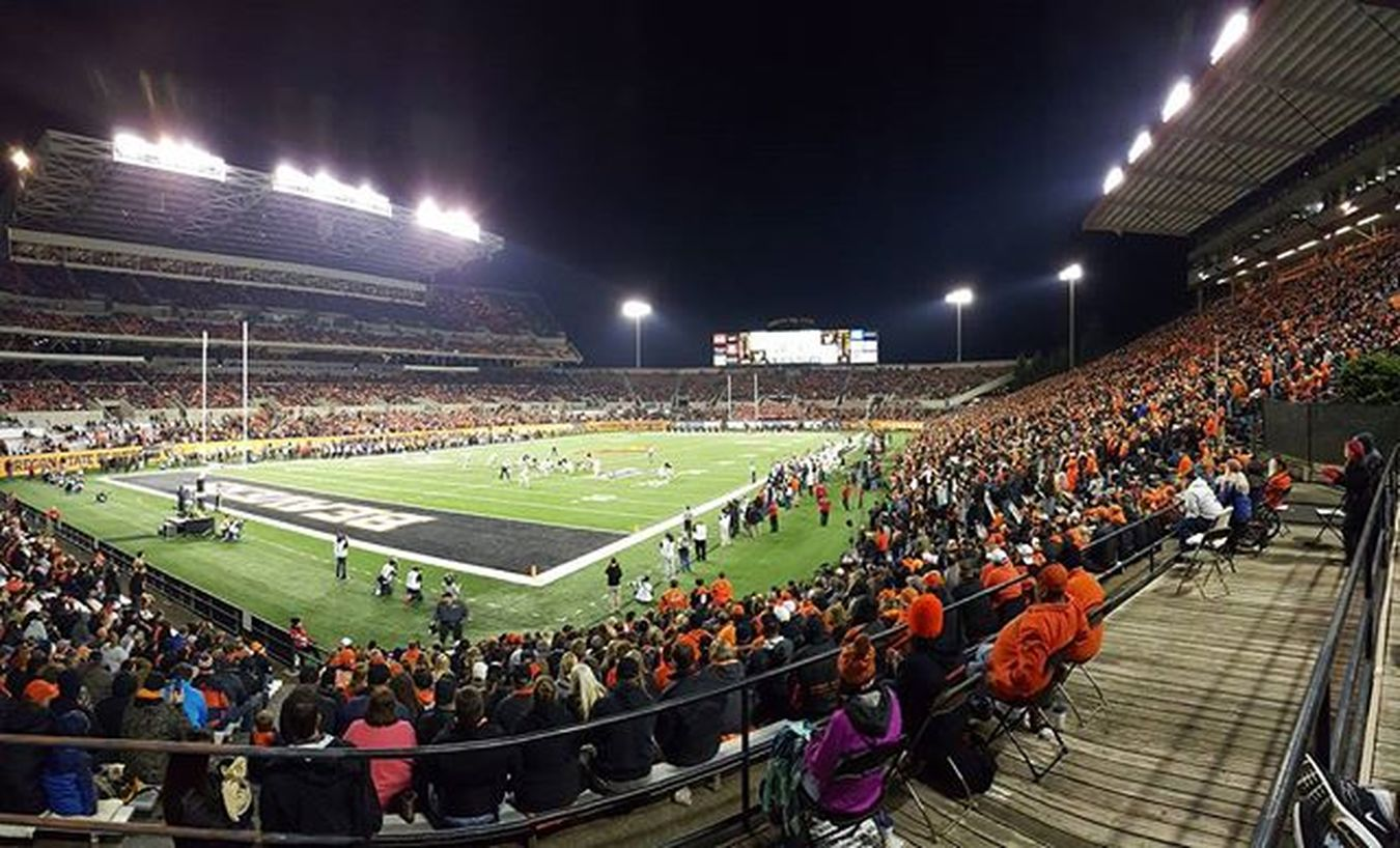 Great show Onlocation at ReserStadium with our amazing Crew making Tvmagic Lucky to work with such a talented & humble group.Colorado at OregonState Collegefootball HowGreatIsBall