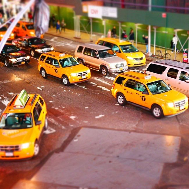 Newyork Tiltshift City Yellow Cab ImagesofNYC My Commute