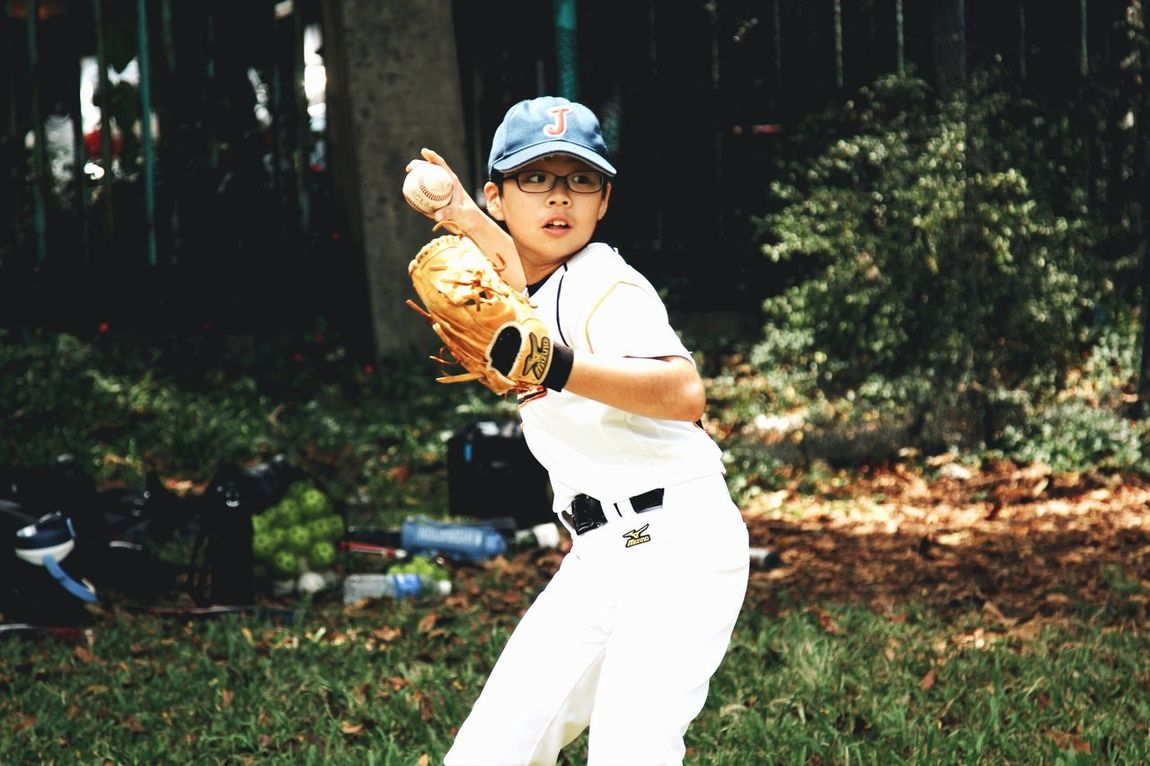 Indonesia Little League Baseball Athlete Training Throwing  Aim Bandung, West Java Tournament Day  Focus Spirit Kids Effort