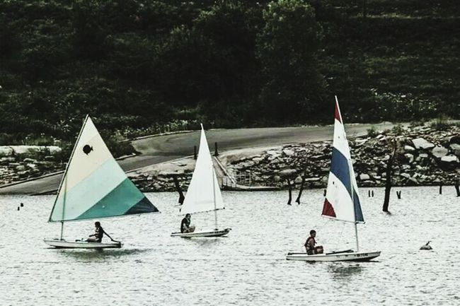 My Scouts Sailing on the water last week Tuttlecreek BSA