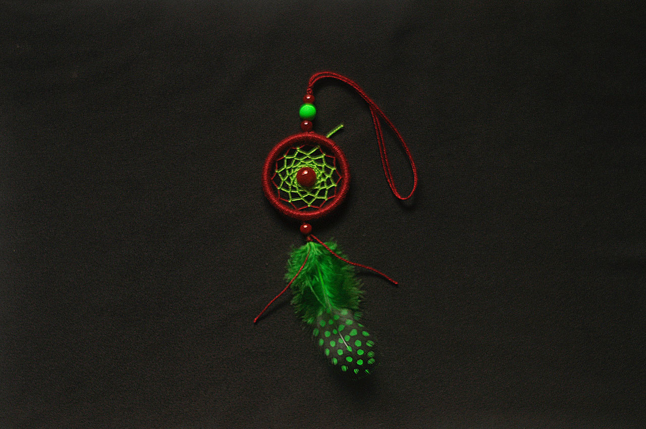 Charm Craft Dream Dreamcatcher Feather  Luck Red Relaxing