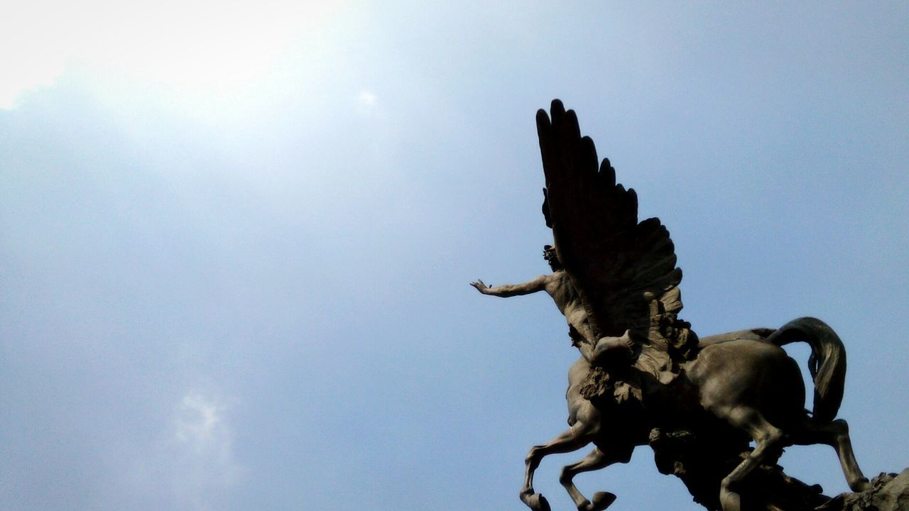 Day Sky Tranquility Art Sculpture Statue Blue Sky Cdmx2016