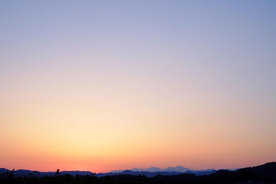 Sunset of Nasu highlands. Beauty In Nature Copy Space Day Fuji Fujifilm Fujifilm_xseries Idyllic Japan Landscape Mountain Nature No People Outdoors Scenics Sky Sunset Tranquil Scene Tranquility Tree