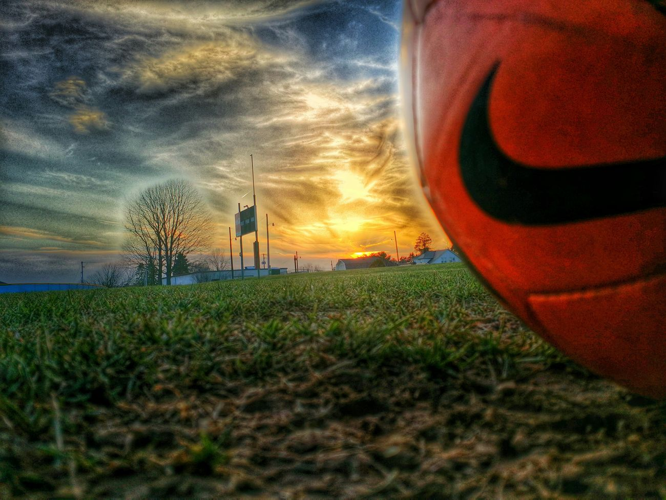 Get start to great weather Futball Nike Soccer⚽ Beautiful Sunset Great Weather My Sport