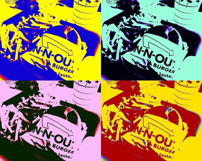 Pastel Power IN-N-OUT BURGER Hollywood Warhol Inspired EyeEm Gallery EyeEmS6