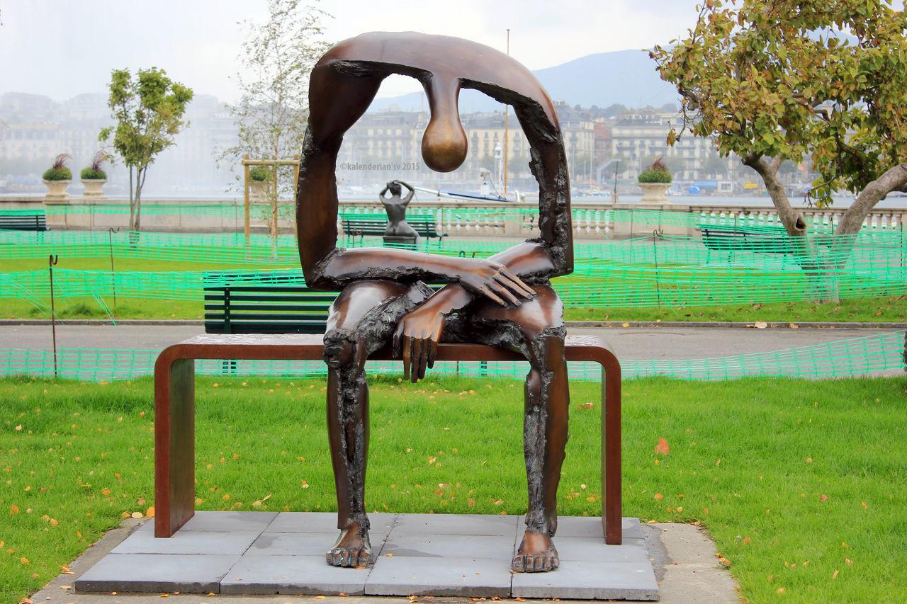 Geneve Grass Love Man Nature Statues Tree Woman