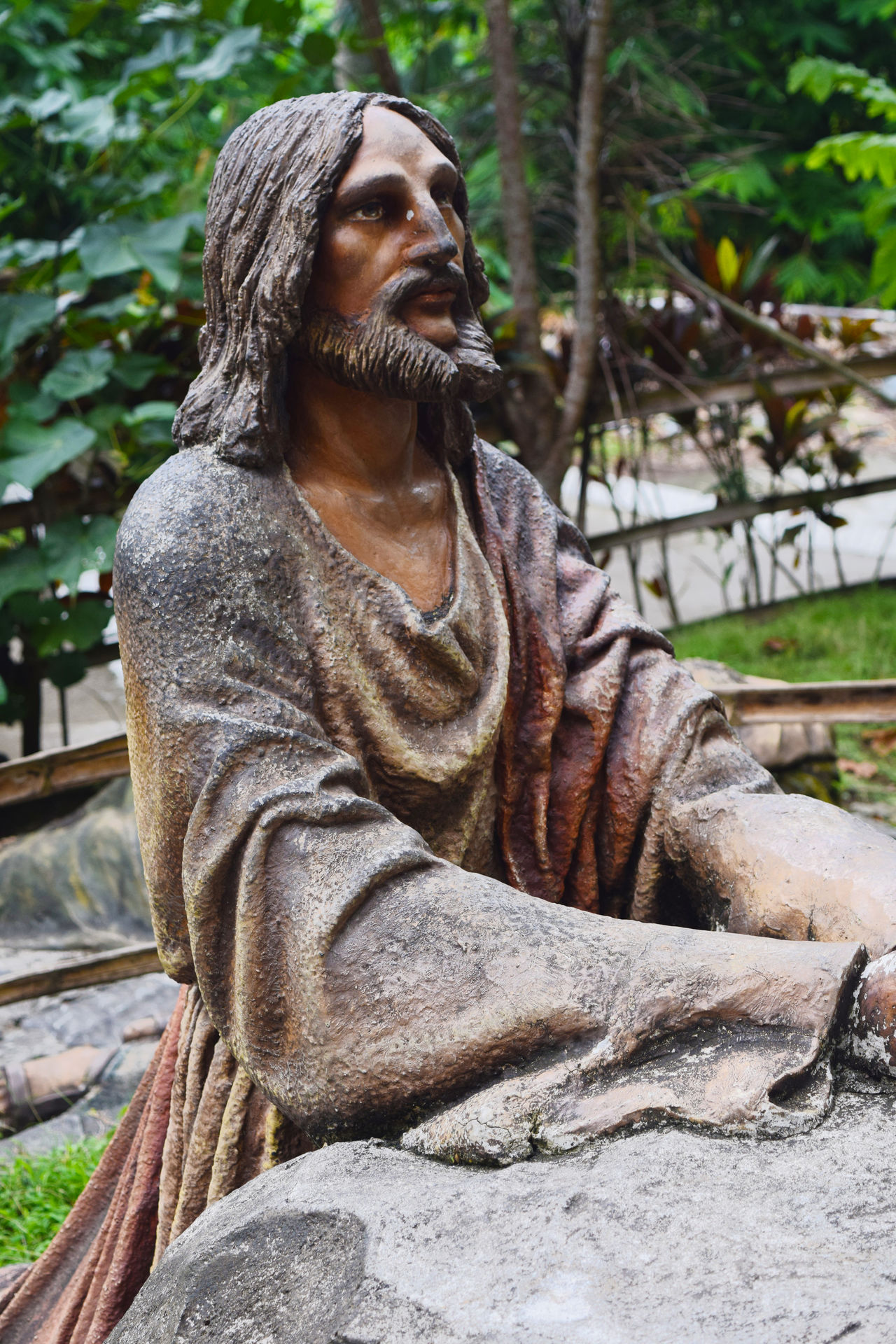 One of the statues that is used to represent one station in the Station Of The Cross in Kawa Kawa Hills, Ligao City, Philippines. Albay Day Devotion Jesus Jesus Christ Kawa Kawa Hill, Ligao City Nature Religious  Religious Art Religious Beliefs Religious Photography Station Of The Cross Statue Tree EyeEmNewHere