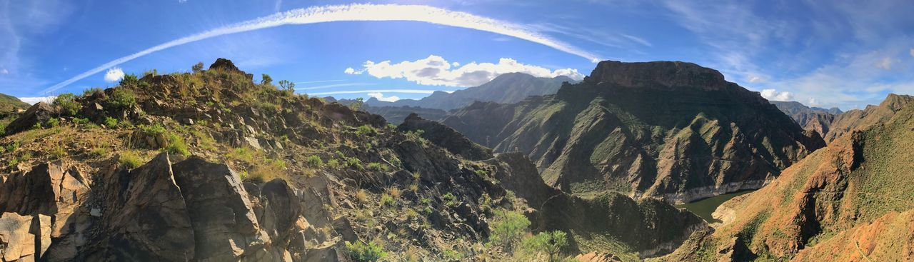 Artenara Beauty In Nature Cloud - Sky Day Gran Canaria Landscape Mountain Mountain Range Nature No People Outdoors Panorama Panoramic Scenics Sky Tree