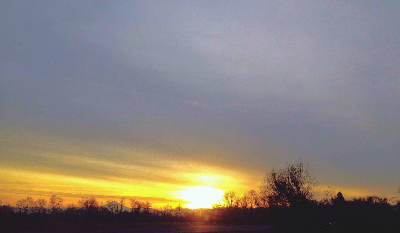 Bright Light At Sunset