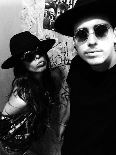 Faces Selfie Blackandwhite Hat