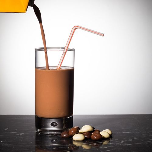 Drink Drinking Glass Milk Drinking Straw Healthy Eating Food And Drink White Background Freshness Refreshment No People Milkshake Chocolate Chocolate Milk Chocolate Milk!!! Cocoa Fresh December Drink December Typical Dutch Pooring