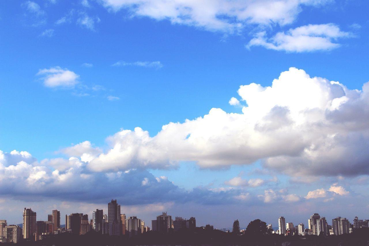 Nature Cloud - Sky Urban Skyline Blue Paulista Avenue São Paulo, Brazil Saturday Afternoon