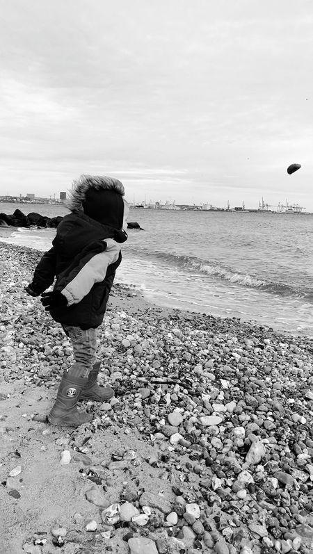 Beach Sea One Person Sand Full Length Aarhus2017 Aarhus, Denmark Kid Boy Throwing Rocks The Great Outdoors - 2017 EyeEm Awards