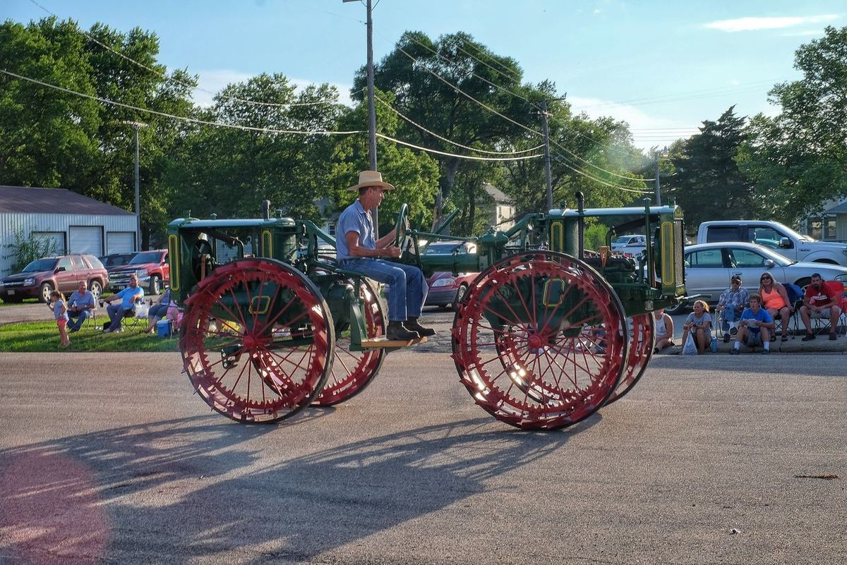 Parade 2016 Old Settlers Picnic Village of Western, Nebraska A Day In The Life Celebration Community Day Land Vehicle Lifestyles Main Street USA Mode Of Transport Old Settlers Picnic Outdoors Parade Photo Essay Rural America Small Town Life Small Town USA Storytelling Tractor Western Nebraska