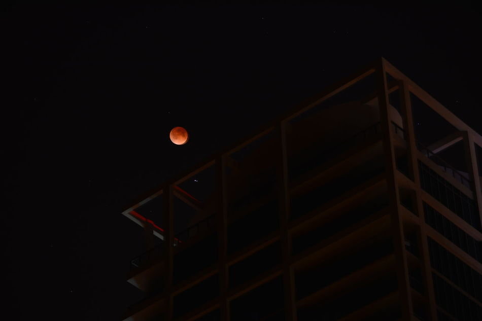 Architecture Blood Moon Building Glowing Glowing Red Light Illuminated Light Miami Beach Mystery Night