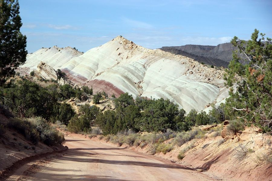 Grand Escalante Escalante Rock Outdoor The Way Forward Dirt Road Road Nature Landscapes Landscape Blue Sky Desert Beauty Arid Outdoors Arid Climate Scenic View Mountains Scenic No People Rocks Hidden Gems  Mountain Rock Formation Fine Art Photography On The Way