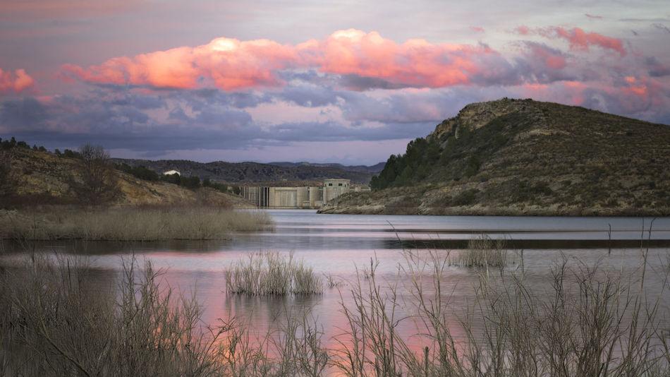 Beauty In Nature Lorca Mountain Napatu Nature Pantano De Puentes Scenics Sky Sunset Tranquil Scene Water