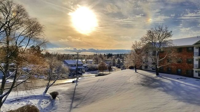 Good morning! GetOutsideNH Visitnh Scenesofnewengland Ignewengland Newenglandpictures Loves_landscape EyeEm Best Shots Amazingphotohunter Love Landscape Beauty In Nature Cloud - Sky Sky Outdoors Nature Day Sunset Cold Temperature Snow Beauty In Nature Tree No People
