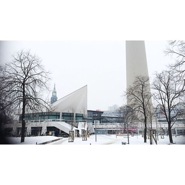 Winterscapes White Album Winter TV Tower New Berlin Wintertime Winter Trees Winter Wonderland Winter 2016 Streetphoto_color Spectrals Of Real Socialism Urban Geometry Urban Landscape Architectural Detail Lerone-frames Empty Places