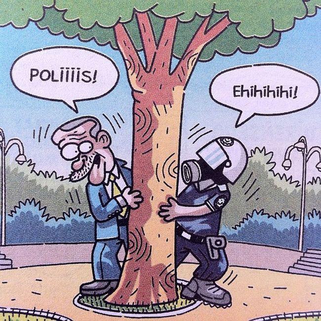 Polis Tayyip Gaz Bibergazi karikatur mizah penguen leman girgir uykusuz komik rte