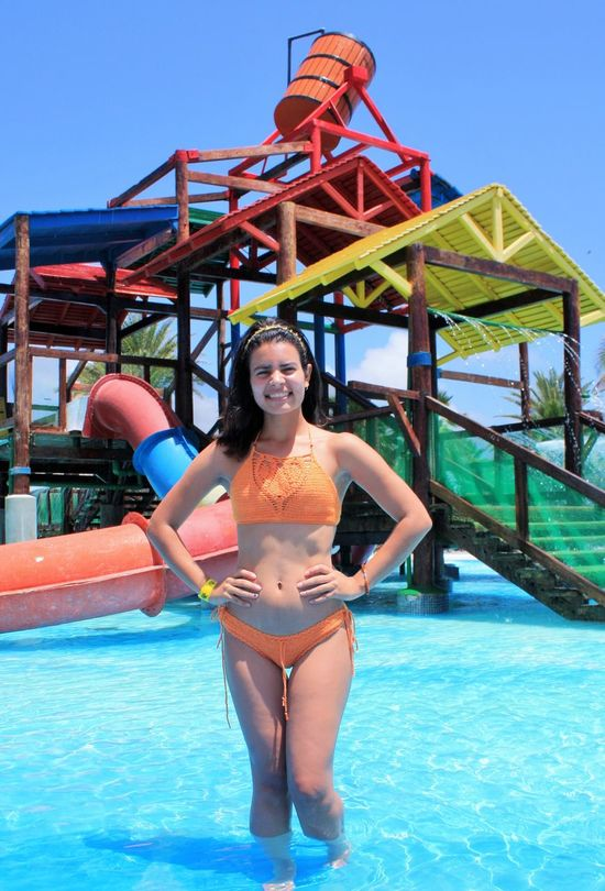 Fun Happiness One Person Summer Swimming Pool Vacations Water