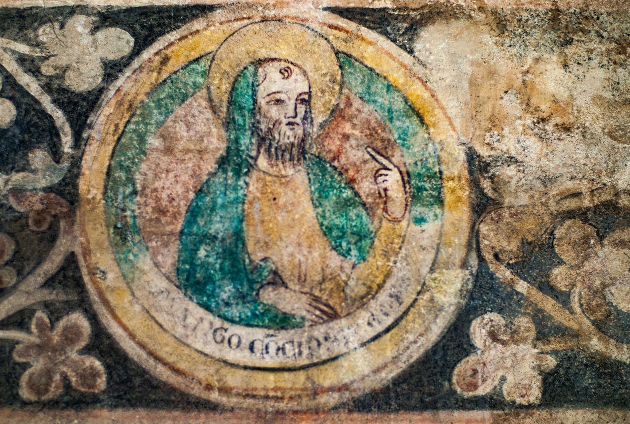 Look at me Detail Fresco Fresco Paintings Look At Me! Old Painting Religious  Religious Art Wall Art