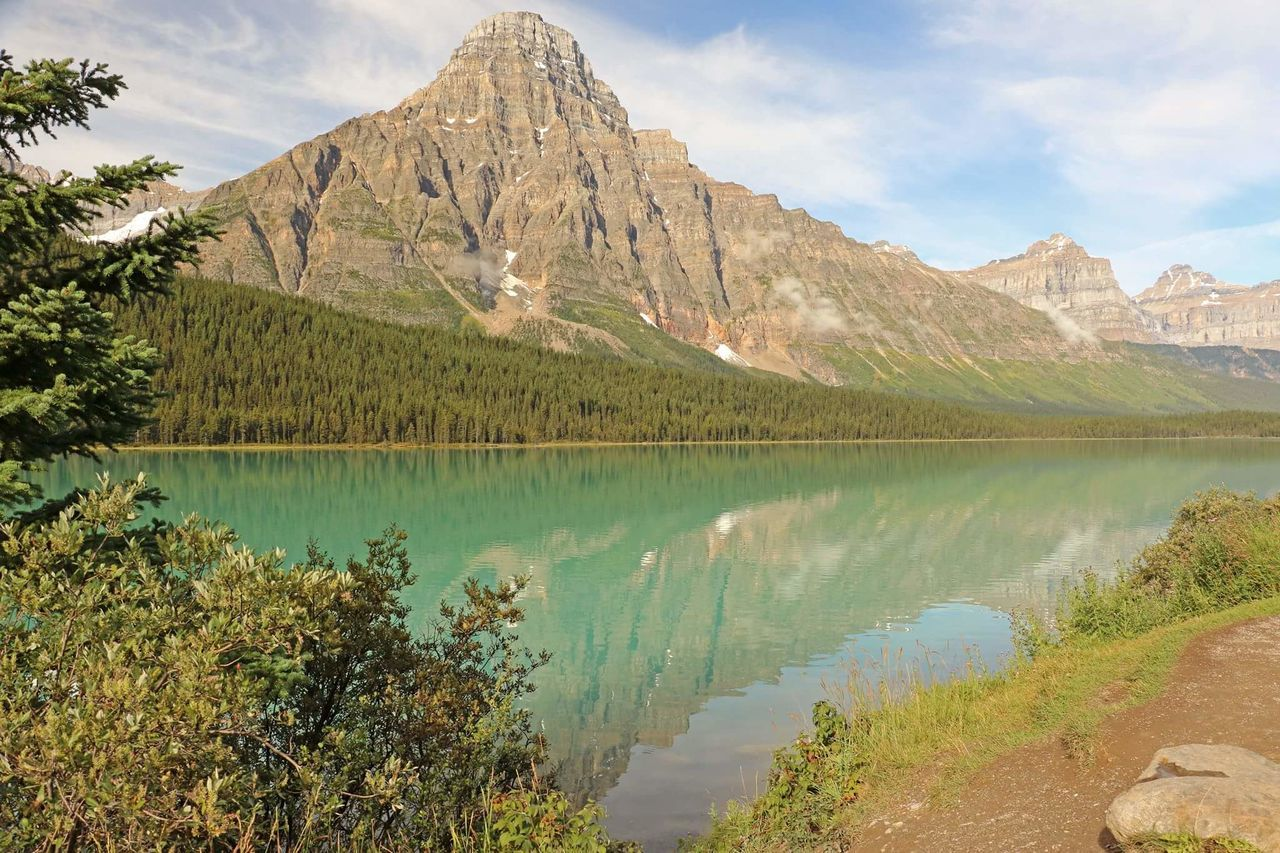 Scenic View Of Mountain By A Lake