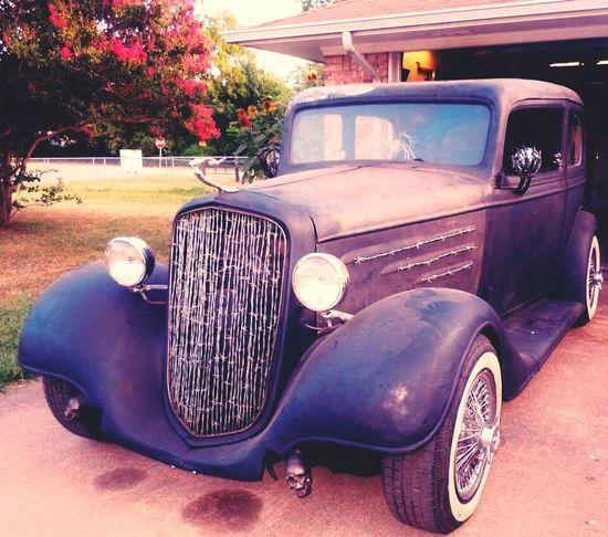 Rat Rod Old Cars Project Car Art Texas Springtime