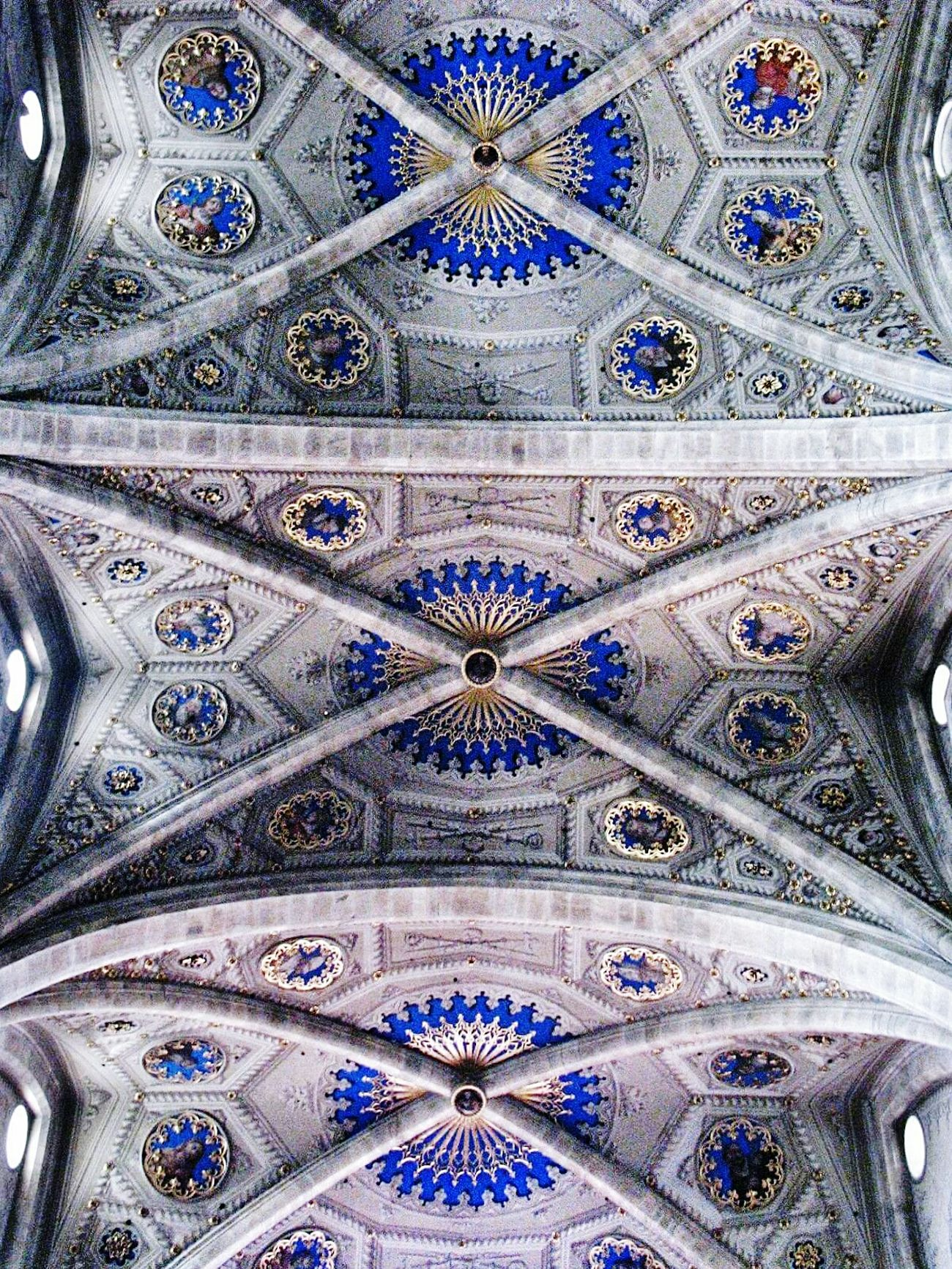 Pattern Full Frame Backgrounds No People Indoors  Architecture Place Of Worship Day EyeEmNewHere Travel Church Italy 🇮🇹 Como Lake Paintings Sacred Art Lapis Lazuli Color Lookingup Ancient Architecture Places I've Been