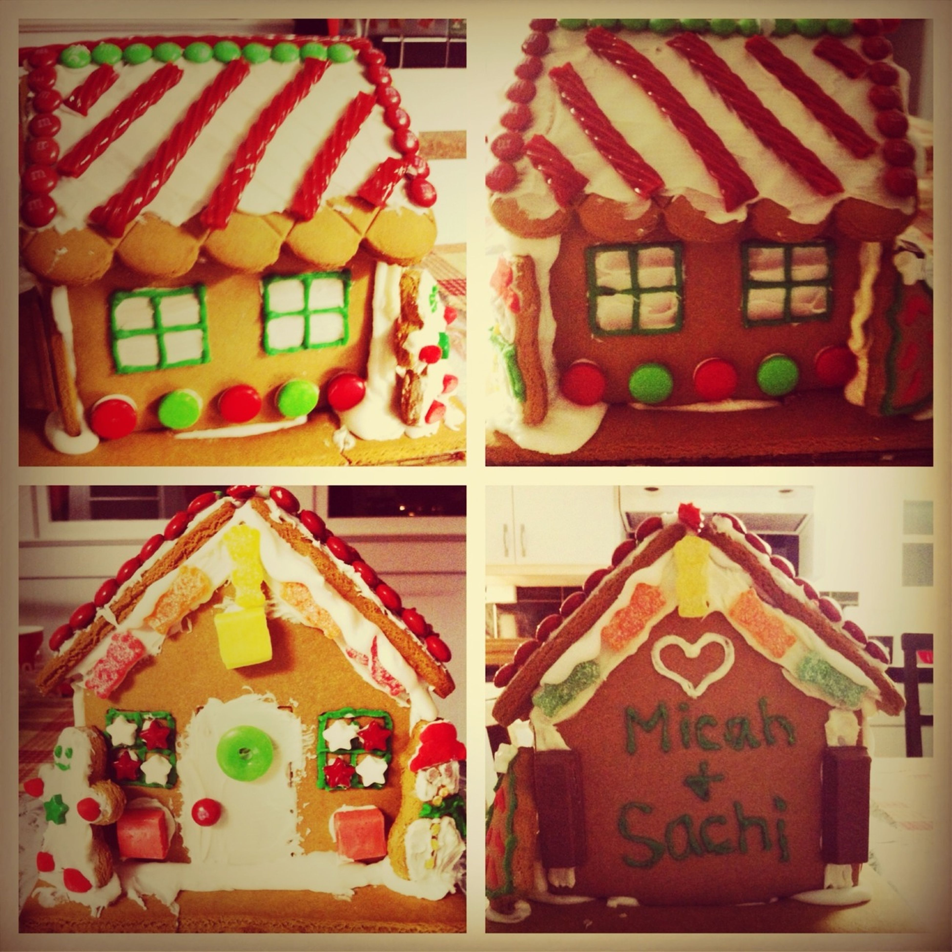Gingerbread house! With mike☺ •love•fun•mine•forever merry christmas!!!