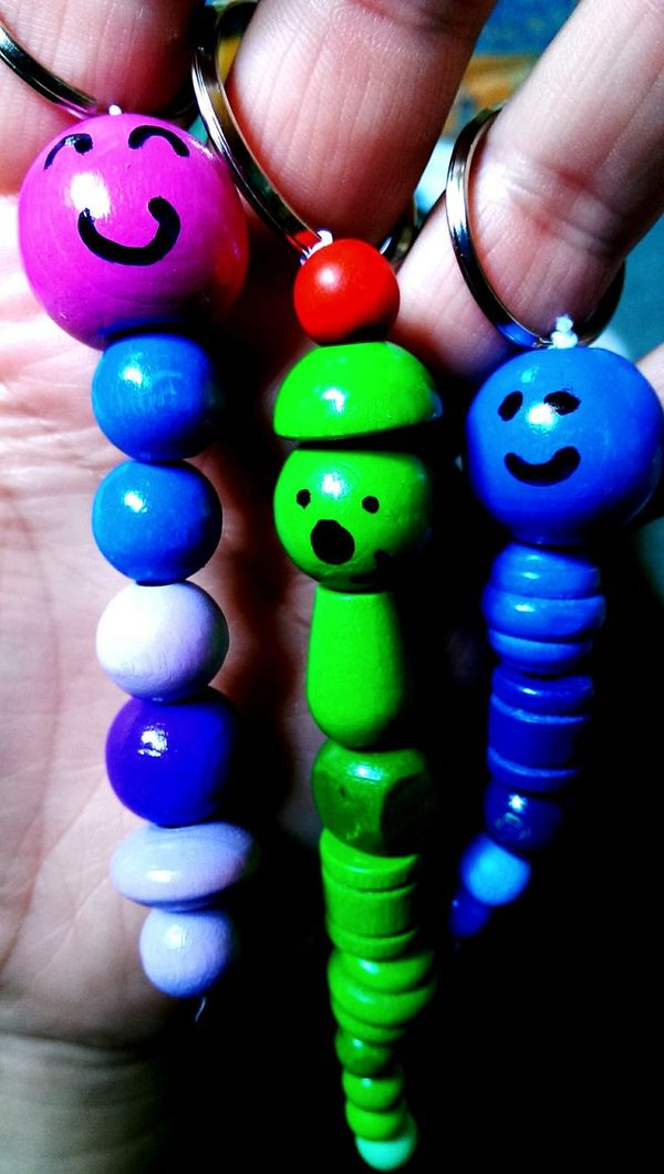 Wooden Wood Beads Keychain My Art, My Soul... My Hobby Check This Out