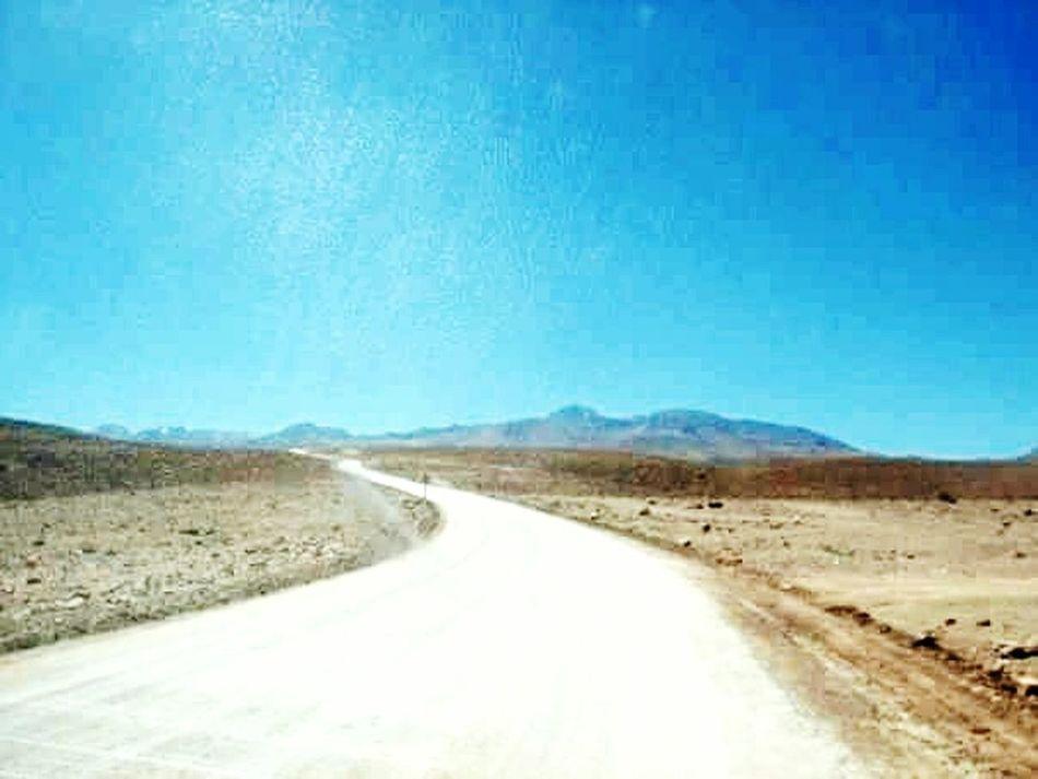 Desierto De Atacama Road Sand Desert Clear Sky Landscape No People Nature Outdoors The Way Forward Sky