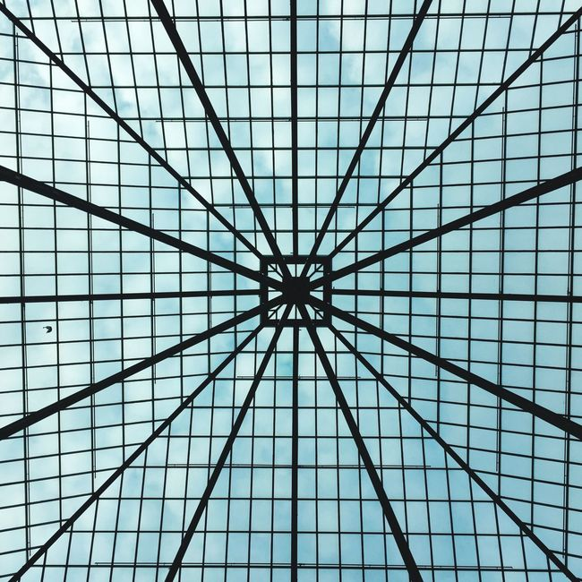Look Up Ceiling Architectural Feature Pattern Geometric Shape Close-up Full Frame Architecture Repetition Directly Below Design Architectural Design Day Architecture And Art Skylight LINE Modern IPhoneography