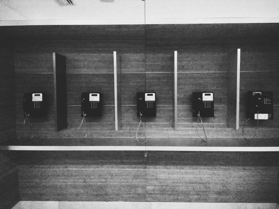 Communication No People Indoors  Phone Booth Telephone Pay Phone Telephone Photography Phonebooth Telephones Bnw Blackandwhite Black And White