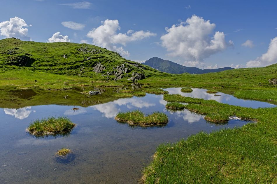 Alpine Blue Sky Carpathian Mountains Clouds And Sky Environment Glacier National Park Grassland Highlands Hiking Trail Island Lake View Mirrored Mountain Range Nature Photography Panorama Peaks Pond Relaxation River Rocks Stream Transfagaraşan Travel Destinations Water