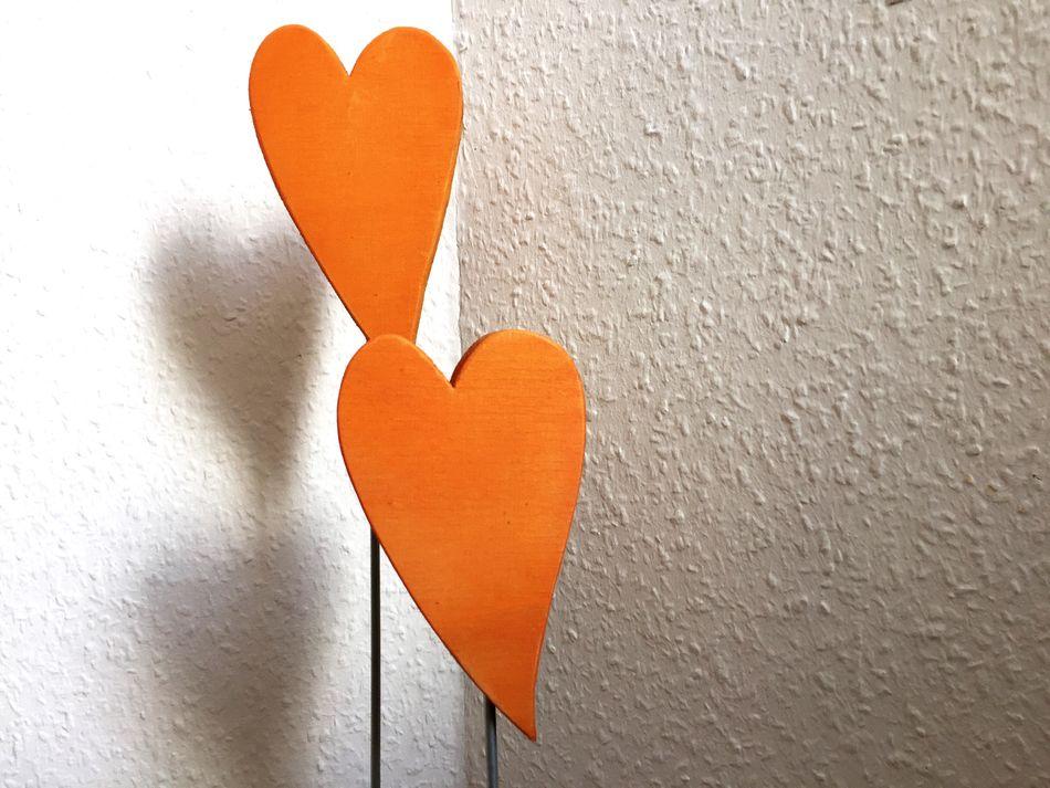 Heart Shape Love Orange Color Shape Close-up Built Structure No People Indoors  Day Herz Eyeem Art Art And Craft ArtWork Holz Handmade Dekoration Decoration Living Liebe Valentine's Day  Muttertag Eyeem Market Color