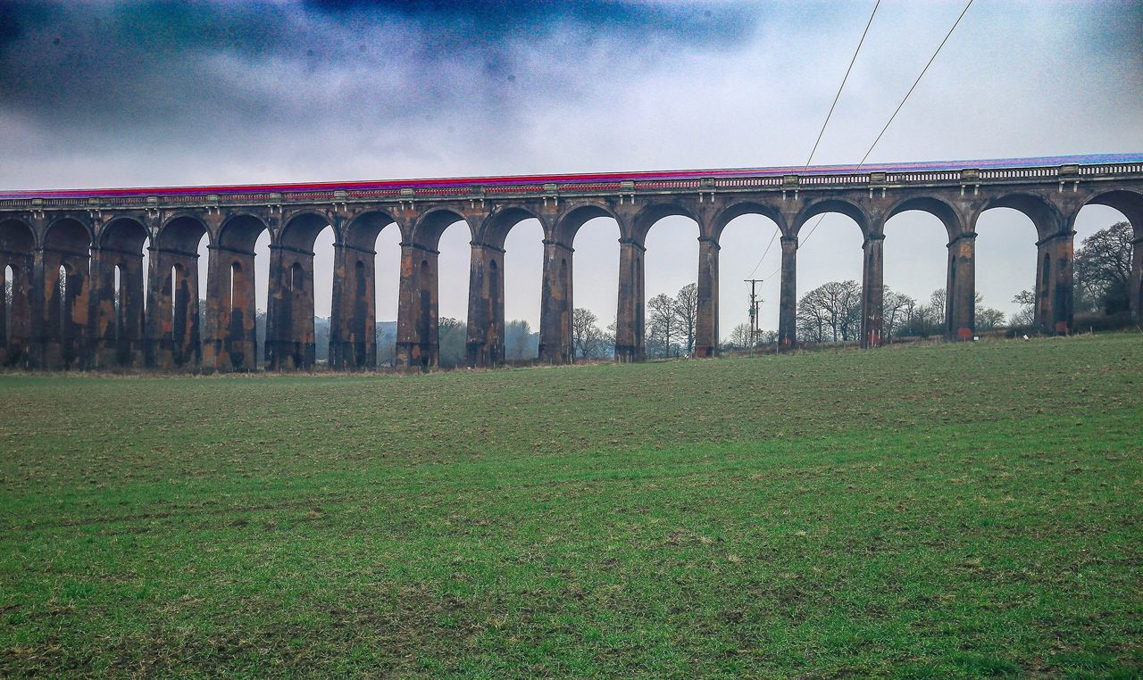 Sky Architecture Built Structure Cloud - Sky Grass Transportation Arch History No People Outdoors Bridge - Man Made Structure Nature Flawlessfocusltd West Sussex Photooftheday Long Exposure Balcombe Viaduct Travel Transport Light Trail Landscape Train Scenics Desktop England🇬🇧