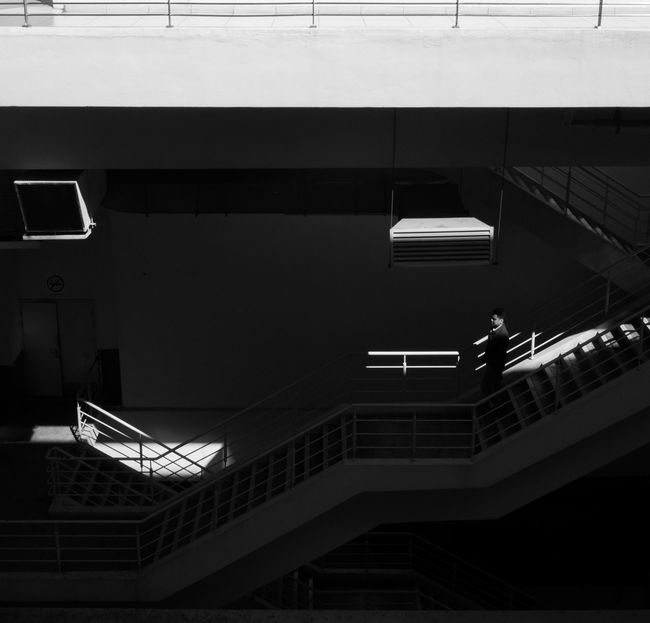 Airport Architectural Feature Architecture Black And White Blackandwhite Building Building Exterior Building Story Built Structure City Light And Shadow Lightning Modern Stairs Street Photography Streetphotography