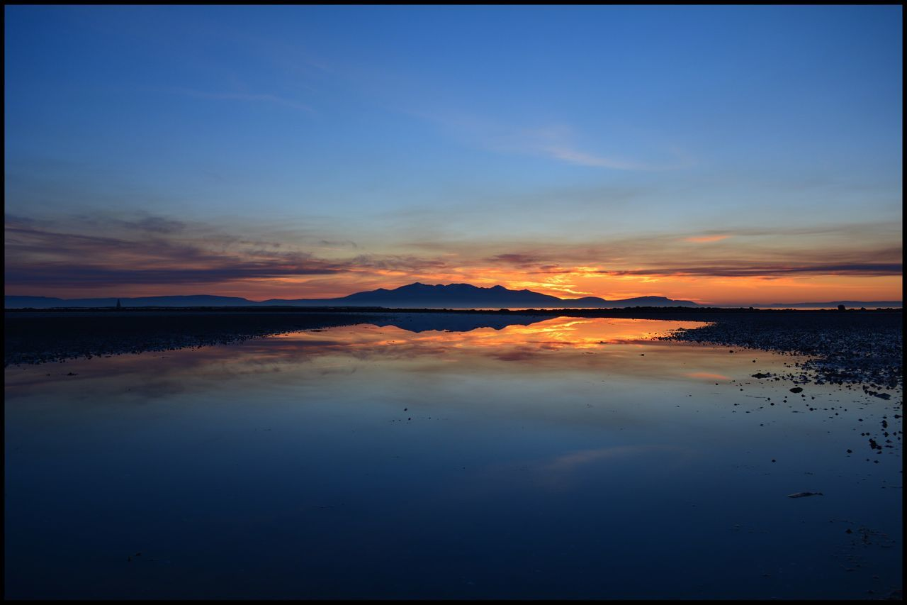 Isle Of Arran  Sunset Beauty In Nature Scenics Nature Tranquil Scene Tranquility Sky Water Outdoors No People Idyllic Reflection Mountain Sea Blue Day Eyeemphotography Eyemphotography EyeEm Gallery EyeEm Best Shots Eye4photography  EyeEm Nature Island The Great Outdoors - 2017 EyeEm Awards