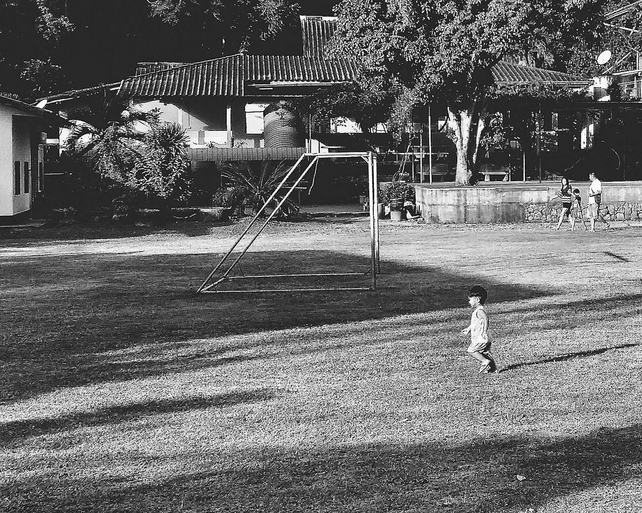 Little Boy Boy Child Goal Post BuildingsSchool Field Schoolfield Trees Nature Naturelovers Maenam Koh Samui Thailand Travelphotography Streetphotography Bnw Bnwcollection Bnwphotography Bnw_captures Bnw_travel Bnw_world Bnw_streetphotography Bnw_kohsamui Bnw_thailand