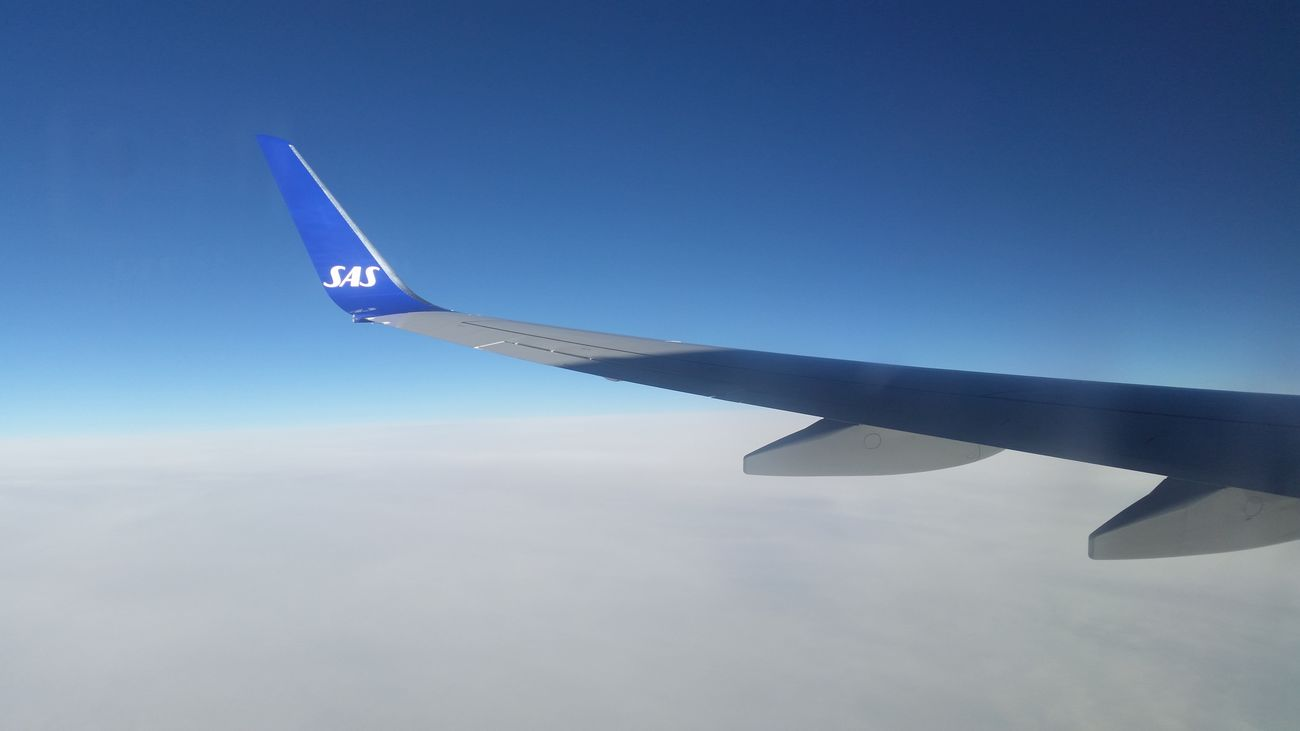 Going from Arlanda to Kastrup Airport after a nice day in the Uppsala area. Sas