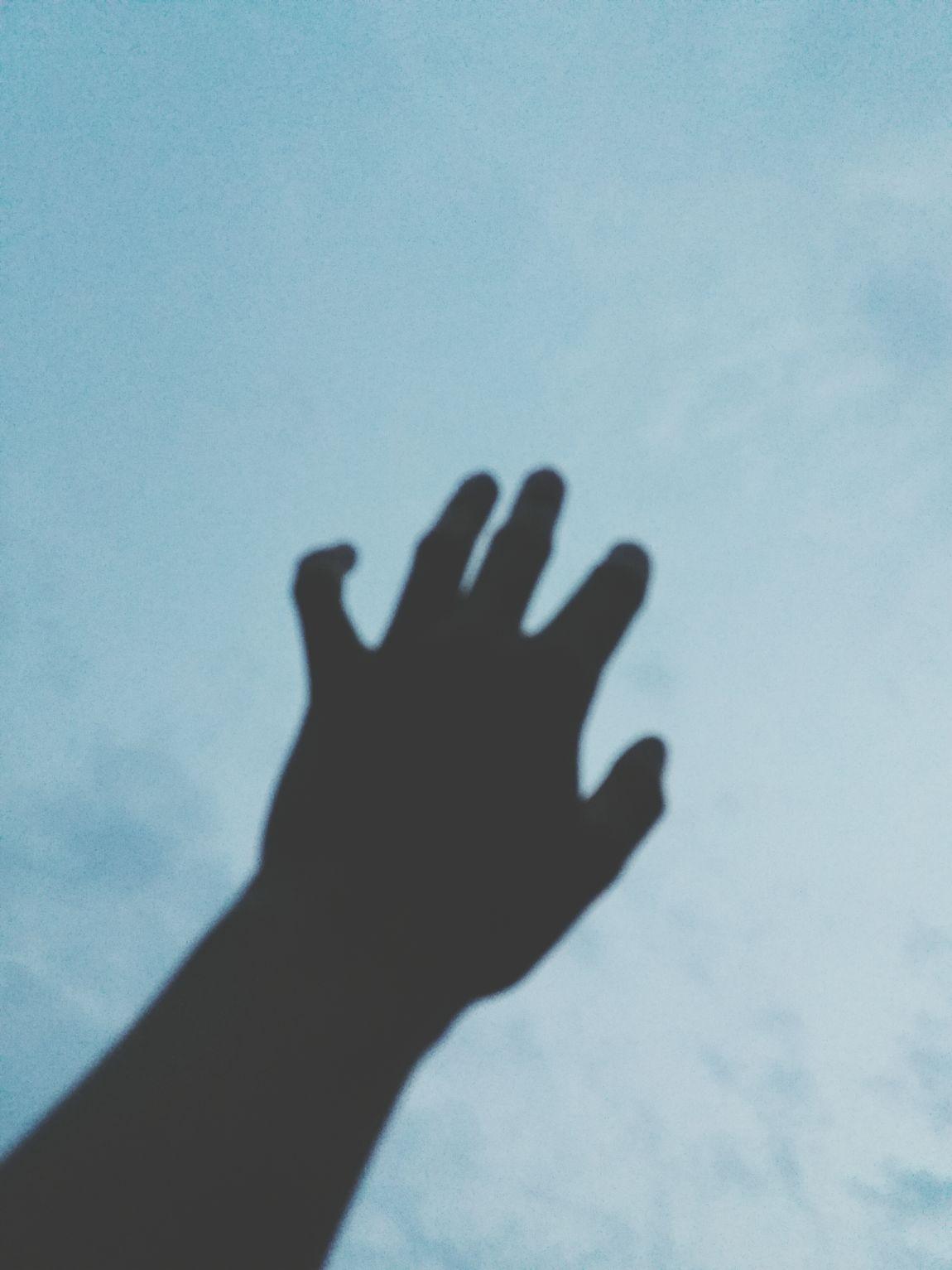 Blue Sky Sky Hand Likethesky Blue Wanttotravel
