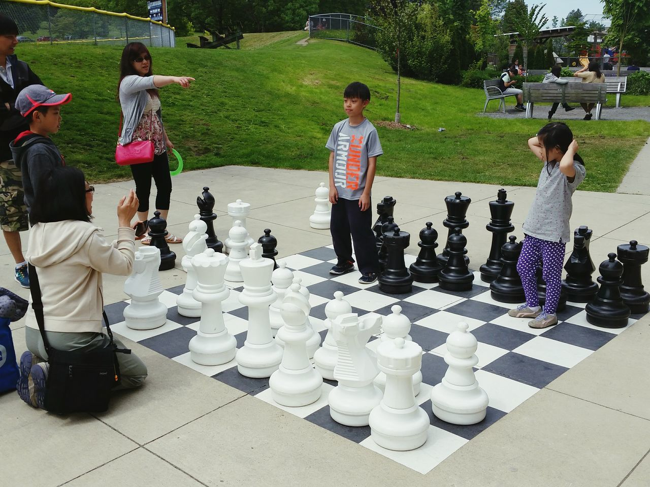 """The Moment - 2015 EyeEm Awards Vancouver, Bc Hillcrest Community Centre Chess Game The Street Photographer - 2015 EyeEm Awards """"Be a Pawn"""" Game On Park Life Children In The Park"""